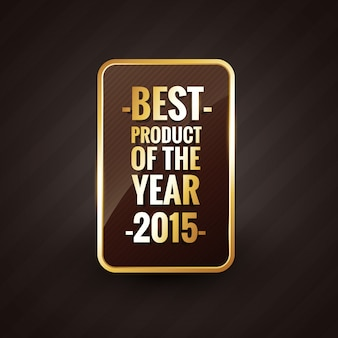 Golden best product of the year  label badge