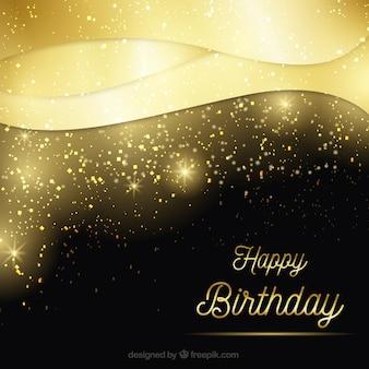 Golden birthday luxurious background