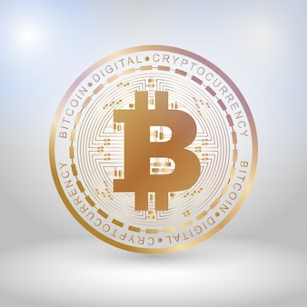 Golden bit coin digital currency