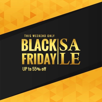 Golden black friday sale poster background