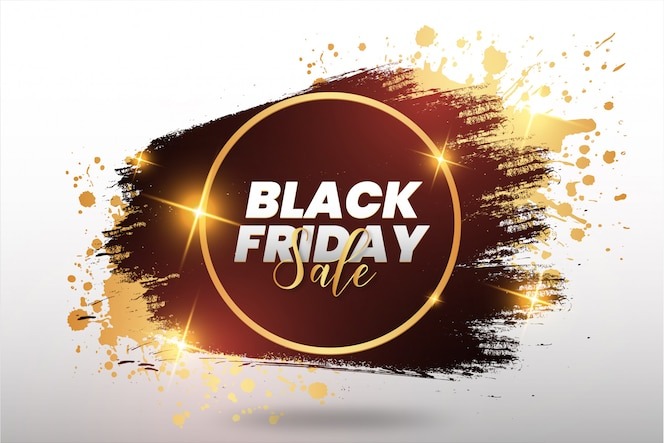 Golden black friday splash banner
