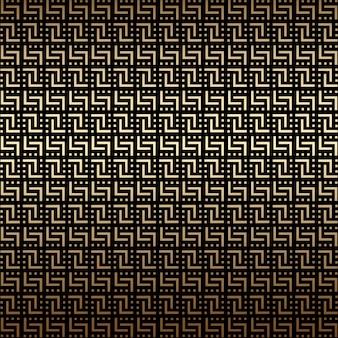 Golden and black geometric seamless pattern, art deco style