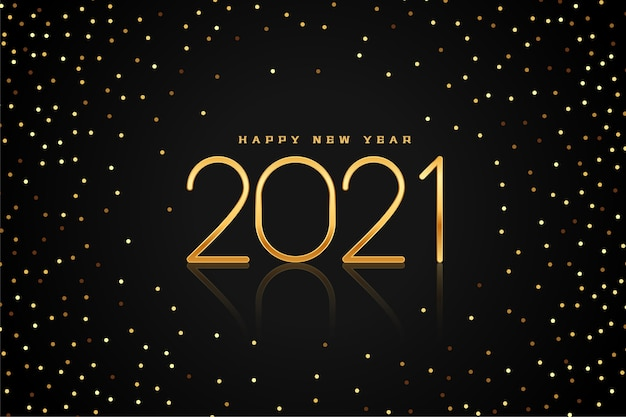 Golden and black new year  background with glitter