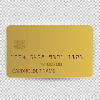 Золотой шаблон пустой модели вид сверху с тенью, изолированные на прозрачном фоне. векторная иллюстрация eps10