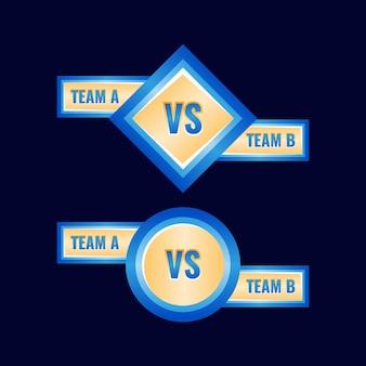 골든 블루 둥근 광택 vs 메달 배지 프레임