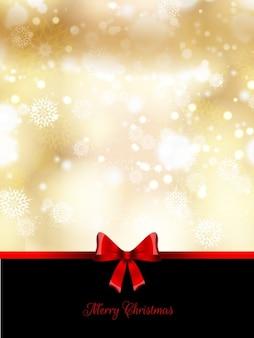 Golden bokeh christmas card with loop