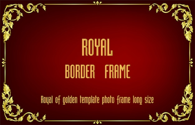 Golden border of frame floral