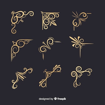 Golden border ornament collection