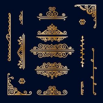 Golden border ornament collection