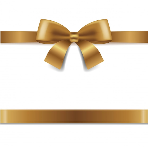 黄金の弓白背景