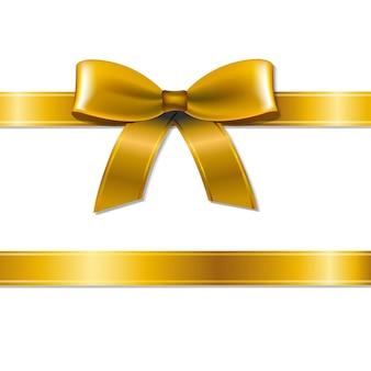 Золотой лук с градиентной сеткой