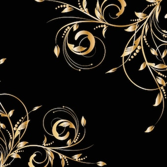 Golden branches background
