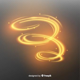 黄金の明るい螺旋