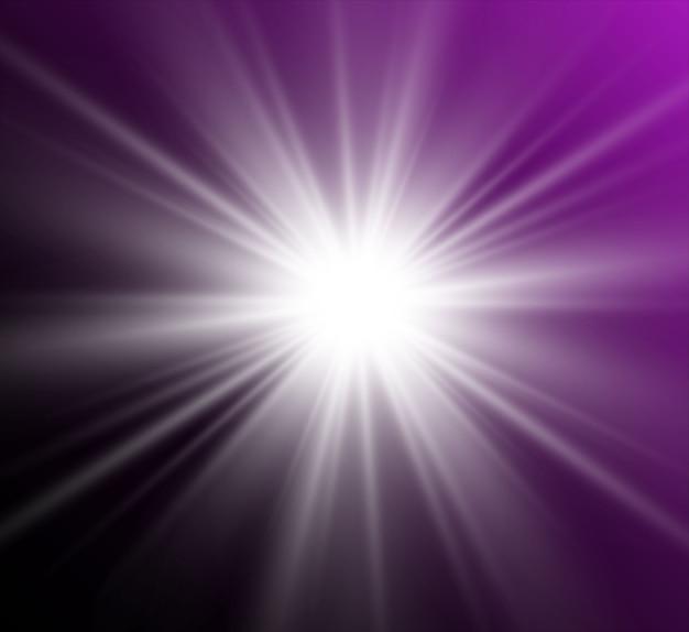 Золотая яркая звезда. световой эффект яркой звезды. красивый свет для иллюстрации.