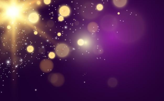 金色の明るい星光の効果明るい星説明する美しい光