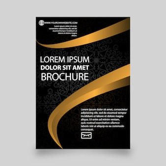 Golden brochure template