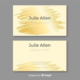 Golden brush stroke business card