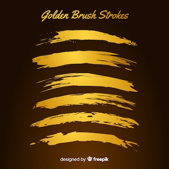 Golden brush stroke collection