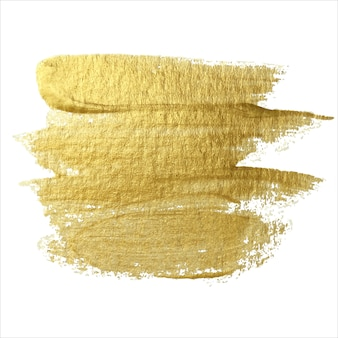 Golden brush stroke design element. art   of abstract shiny texturing.