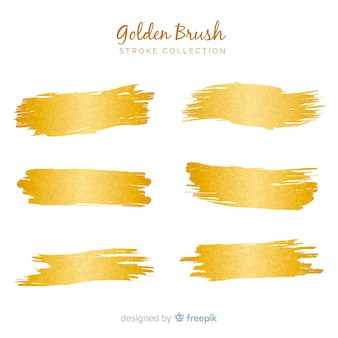 Golden brush stroke pack