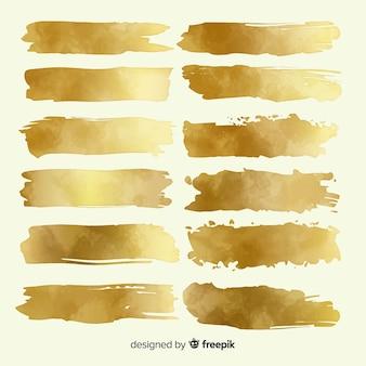 Golden brush stroke pack