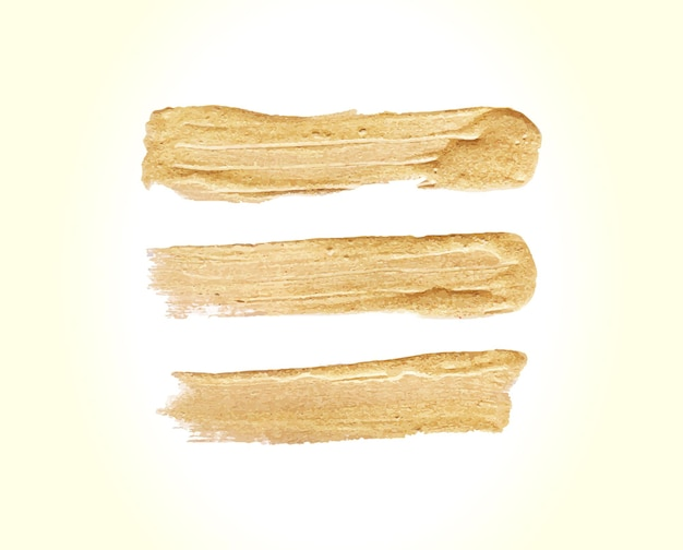 Golden brush stroke set