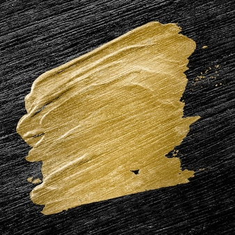 Golden brush stroke