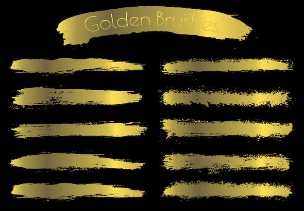 Golden brush strokes