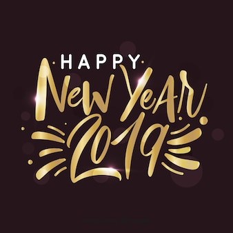 Golden calligraphic new year background