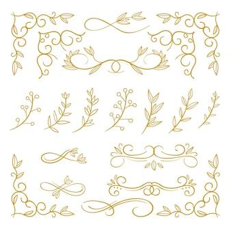 황금 붓글씨 장식 컬렉션