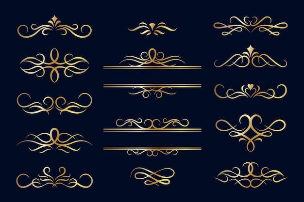 黄金の書道飾りコレクション