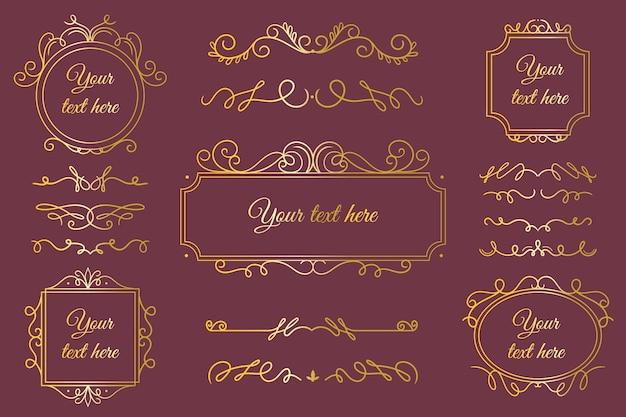金色の書道飾りセット
