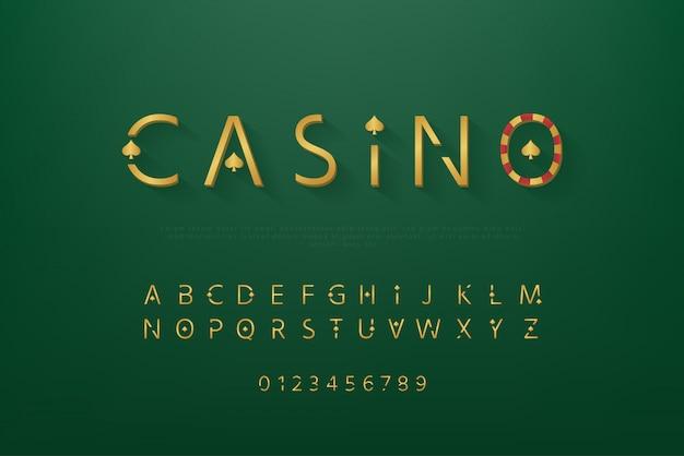Golden casino theme font set