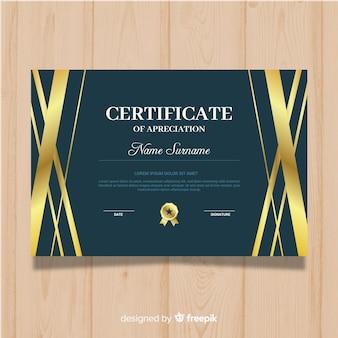 Golden certificate of appreciation