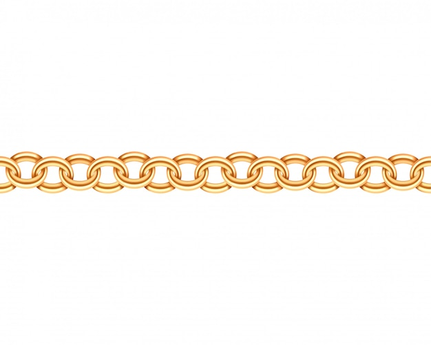 Golden chain seamless pattern