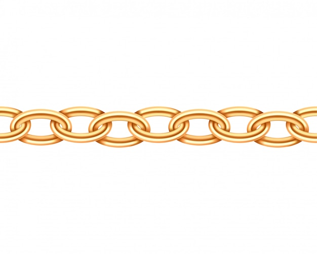 Golden chain seamless texture.