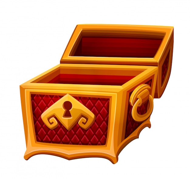 Golden chest open