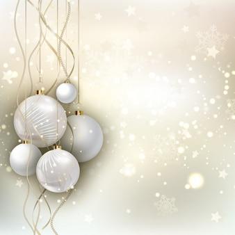 싸구려와 황금 크리스마스 배경
