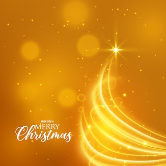 Golden christmas background with creative tree design