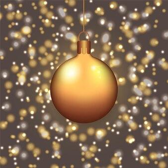 Золотой рождественский бал фон