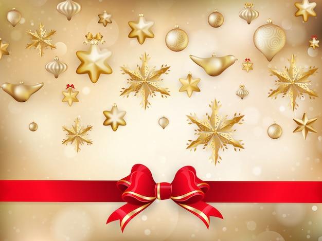 Золотое новогоднее украшение.