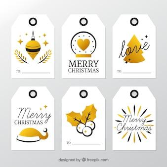 ゴールデンクリスマスラベルセット