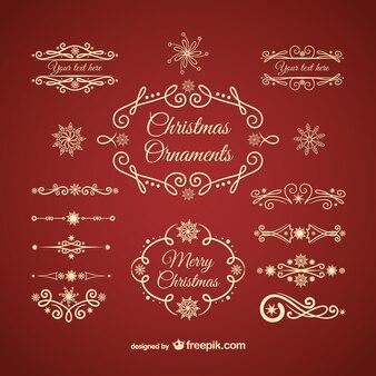 Золотой рождественские украшения
