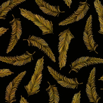 Golden christmas pattern background