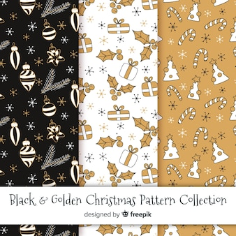 Golden christmas pattern