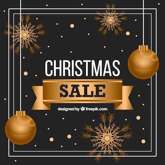 Golden christmas sale design