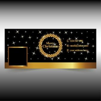 Golden circle stars christmas facebook cover