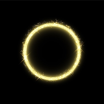 Золотой круг со световыми эффектами