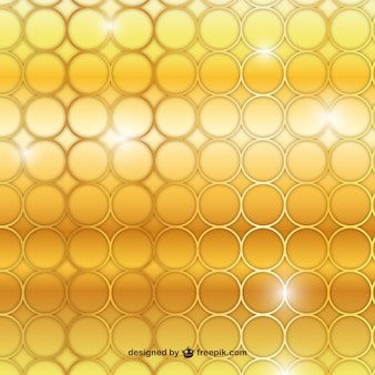 Golden circles background