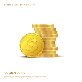 Golden coin object